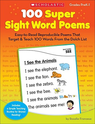 100 Super Sight Word Poems By Franzese, Rosalie